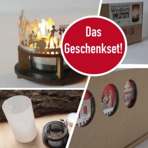 Krefeld Skyline Souvenir Andenken City Light Silhouette Geschenk Premium Box