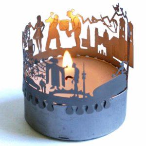 Muenchen Skyline Souvenir Kerze Geschenk mit Postkarte