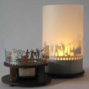 Muenchen Skyline Souvenir Andenken City Light Silhouette Geschenk Premium Box