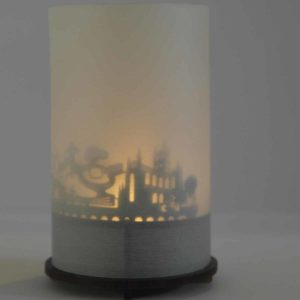 Bath Skyline Souvenir Andenken City Light Silhouette Geschenk Premium Box