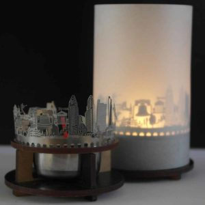 Philadelphia Skyline Souvenir Andenken City Light Silhouette Geschenk Premium Box