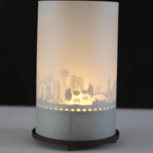 San Antonio Skyline Souvenir Andenken City Light Silhouette Geschenk Premium Box